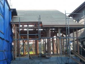 屋根造作完了 7月1日